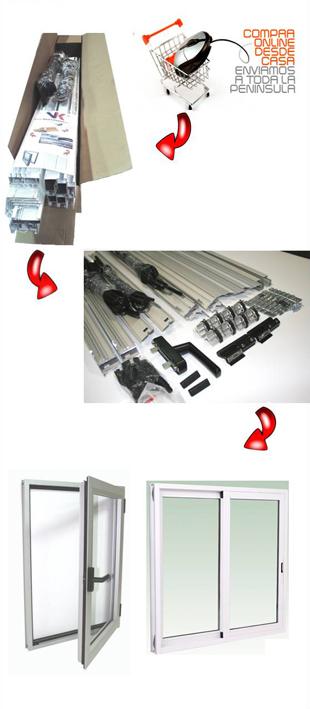 ventanas de aluminio Correderas y practicables