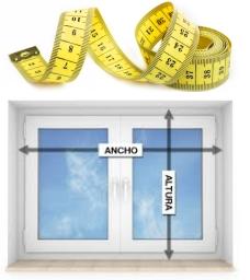 ventana de aluminio detalles de medición